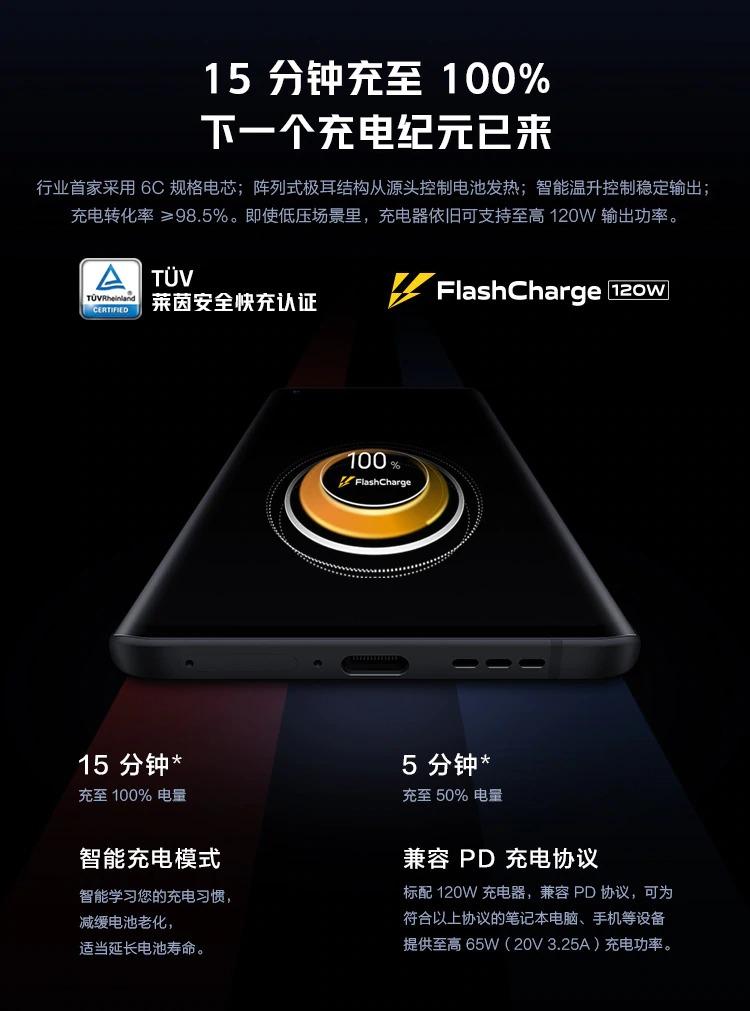 iQoo5Pro 120W急速充電